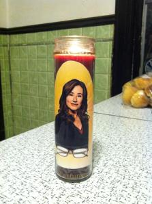 Laura Roslin candle