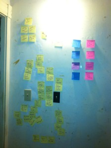 wall of notes